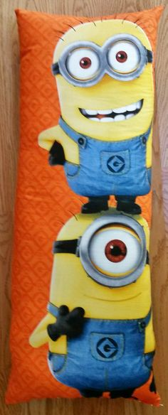This Minion fabric panel from Quilting Treasures is the perfect size for a king size pillow case :)