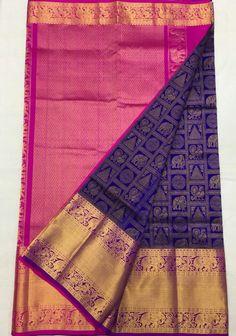 Bridal Sarees South Indian, Wedding Silk Saree, Indian Bridal Wear, Indian Sarees, Wedding Saree Blouse Designs, Blouse Designs Silk, Silk Saree Kanchipuram, Handloom Saree, Sari Blouse