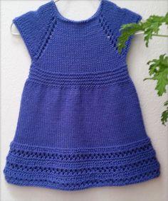 Wee Penny Knitting pattern by Taiga Hilliard Designs Knit Baby Dress, Baby Scarf, Baby Cardigan, Christmas Knitting Patterns, Baby Knitting Patterns, Baby Patterns, Knitting For Kids, Free Knitting, Knitting Yarn