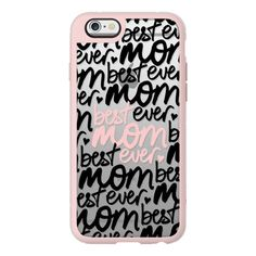 Best Mom Ever (black + pink rose quartz handwriting) (Mother's Day) -... ($40) ❤ liked on Polyvore featuring accessories, tech accessories, phone cases, phone, iphone case, iphone cover case, apple iphone cases, iphone cases, pink iphone case and iphone hard case