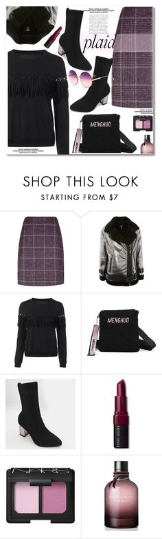 """Check It: Plaid"" by gamiss ❤ liked on Polyvore featuring Hobbs, Topshop, Bobbi Brown Cosmetics, NARS Cosmetics, Bottega Veneta, casual, plaid, zaful and gamiss"