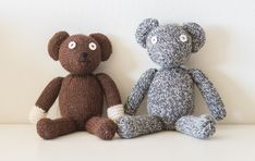 custom knit mr bean bear