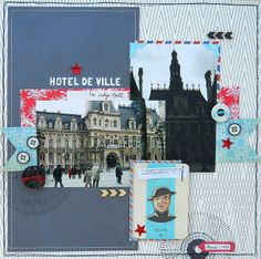 Hotel de Ville *Sketch-N-Scrap* by Artfulscrapbooking @2peasinabucket