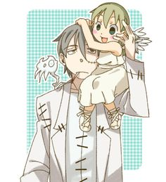 Hee! Stein and Little Maka!
