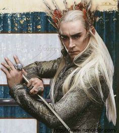 He definitely looks like he could be Legolas' father.  First Look At Lee Pace as King Thranduil in THEHOBBIT - News - GeekTyrant