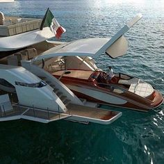 Who doesn't want a yacht that you pull another yacht into?