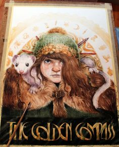 """watercolor Illustration poster for """"The Golden Compass"""" book written by Phillip Pullman Behance Illustration, Watercolor Illustration, The Golden Compass Book, His Dark Materials Trilogy, Character Art, Character Design, Fanart, Drawing Sketches, Drawings"""