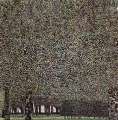 Park, 1910, Gustav Klimt Size: 110.5x110.5 cm Medium: oil on canvas