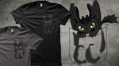 My Toothless dragon design in Qwertee : Limited Edition Cheap Daily T Shirts