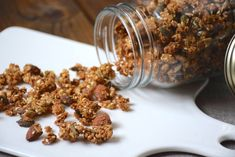 Salty Granola – Easy recipe to customize to your taste – AnneSO Fashio … - Recipes Easy & Healthy Almond, Easy Meals, Brunch, Food And Drink, Nutrition, Healthy Recipes, Cooking, Breakfast, Lovers