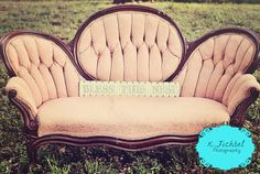 Love my new photography prop! A beautiful antique couch! Just my style! :)   #averyhappyphotographer:)