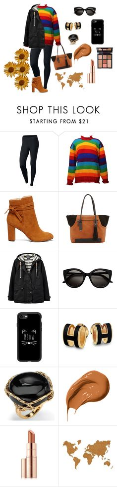 """Look de inverno"" by megeller on Polyvore featuring moda, NIKE, Sole Society, French Connection, Joules, Casetify, Palm Beach Jewelry, Bobbi Brown Cosmetics, Charlotte Tilbury e Estée Lauder"