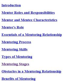 How will the experiences and expectations of the mentee change over time