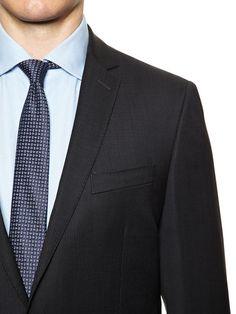 Black Wool Suit by Ben Sherman Suiting at Gilt