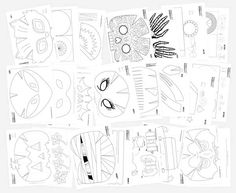 Vampire Mask: DIY Halloween costumes and craft activity • Happythought Diy Party Costumes, Diy Halloween Costumes, Printable Halloween Masks, Vampire Mask, Owl, Mask Template, Paper Mask, Crafty Kids, Happy Thoughts