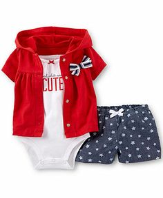 Carter's Baby Girls' 3-Piece 4th of July Set - Kids Baby Girl (0-24 months) - Macy's