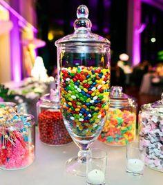 Candy bar station at wedding