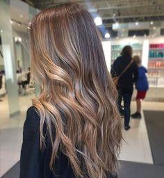 beautifully painted locks by Bronde Hair, Brown Hair Balayage, Hair Highlights, Honey Blonde Hair, Blonde Hair Looks, Dark Blonde, Blond Ombre, Hair Color For Women, Aesthetic Hair