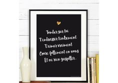 Affiche Collection St Valentin  a télécharger par RGB4YOU sur Etsy Viens On Saime, Citation Saint Valentin, Happy Wedding Day, Be My Valentine, Motivation Inspiration, Beautiful Words, Digital Image, Cool Words, Love Quotes