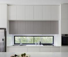Modern Kitchen Cupboards, Modern Kitchen Island, Glass Kitchen, Kitchen Windows, Kitchen Room Design, Home Decor Kitchen, Kitchen Interior, Apartment Kitchen, Kitchen Ideas