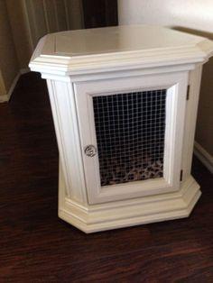 DIY Dog Crate End Table Studio 7 Pinterest Diy dog crate Dog