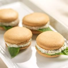 Savory Tomato Feta Basil Macarons  This savory twist on the traditional sweet French cookie is a delicious treat that will wow your friends. Their mild outer crust is balanced with the tangy filling of feta cheese fresh tomato basil. They're the perfect Springtime appetizer to serve at an elegant brunch.  Savory Tomato Feta Basil Macarons Makes 12 servings.  Ingredients Macaron Part I: 3/4 C almond meal 3/4 C confectioners sugar 1 lg egg white  Macaron Part II: 1 lg egg white 2 T water 3/4…