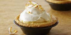 Individual Coconut Cream Pies