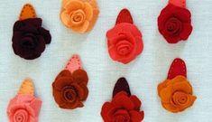 Presilhas de cabelo de rosas em feltro vão deixar a sua menina com visual ainda mais lindo e encanta