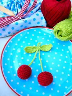 Crocheted Cherries <3 #Cherries