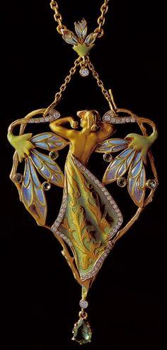 Lalique Art Nouveau Pendant