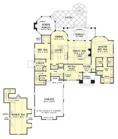 images about House Plans on Pinterest   House plans  Floor     lt  SF   Don Gardner   Conceptual design first floor plan