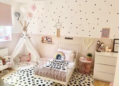 Toddler Room Decor, Toddler Rooms, Baby Room Decor, Toddler Bedroom Ideas, Childrens Bedroom Ideas, Girls Pink Bedroom Ideas, Girls Bedroom Decorating, Childrens Wall Decals, Nursery Decor
