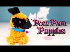 Como se hace un perrito Carlino con Pompones de lana - La perrita que ti...