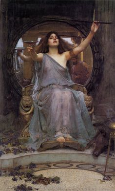 """Circe - yes I know she is """"outwitted"""" by Odysseus in the story - but I think she is a fantastic and strong character who shows the crew for the fools and swine they are inside..."""