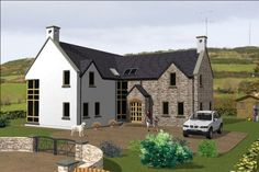 dorm071 Cottage House Plans, Dream House Plans, Cottage Homes, Farm House, House Layout Plans, House Layouts, L Shaped House Plans, House Designs Ireland, Self Build Houses