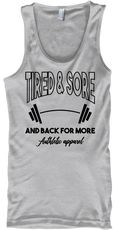 Tired &Amp; Sore Men's Gym Products from Rboss | Teespring fitness apparel gym clothes motivational gym shirt Gym Products, Fitness Apparel, Gym Shirts, Gym Men, Tired, Tank Man, Motivational, Just For You, Amp