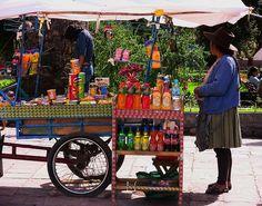 Peru - Im Andenhochland - Andahuaylillas - mobiler Verkaufsstand  by roba66, via Flickr
