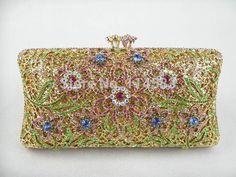 2011 Color-TA Floral Flower Lady Fashion Bridal Party Metal Evening purse handbag clutch bag case