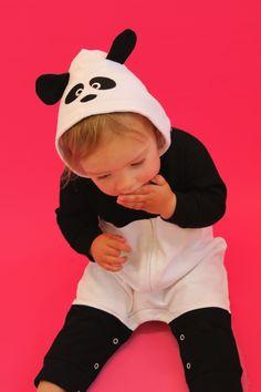 Cute Baby Clothes, Panda Onesie, Romper