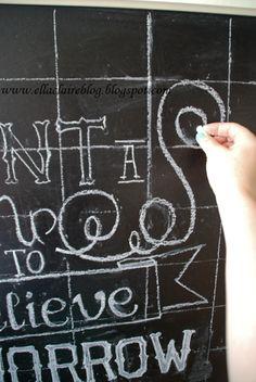 {Ella Claire}: {Simplified} Chalkboard Drawing Tutorial