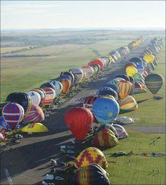 Parallel parking hot air balloons