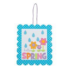 Hello Spring Sign Craft Kit - OrientalTrading.com