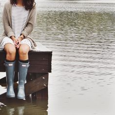 """curlycarolina: """"Rainy Days in North Carolina aren't too bad """" Red Hair Don't Care, Brooklyn Baby, She Is Clothed, Summer Rain, New Journey, Rain Wear, Rainy Days, Hunter Boots, Dress To Impress"""