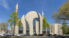 The Cologne Central Mosque was completed in 2017, and is located in Cologne, Germany. This mosque is extremely modern with glass walls, and its overwhelming size. It has one large dome, and two 55 meter high minarets. It is aimed to hold 2,000-4,000 worshipers at a time.