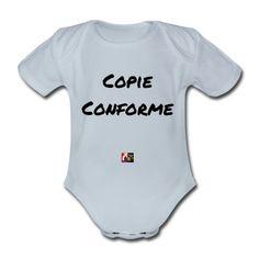 Ce Body pour ceux qui veulent des preuves : COPIE CONFORME  #tshirt #copie #conforme #jumeaux #jumelle #parents #bébé #parentalité #certificat