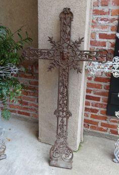 Antique-French-Cast-Iron-Cross