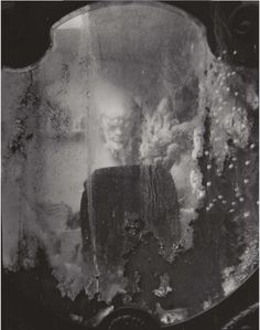 Josef Sudek -  Mirror with Reflection from Labyrinths, 1948-1973, Gelatin silver print. via: Phillips