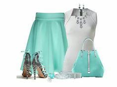 Aquamarine skirt to match with shoes etc...