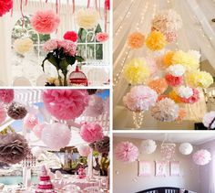 5 Cun DIY craft Tissue pom poms Paper flower ball , paper ball for Wedding Party festival decorations(100pcs/lot) $39,55