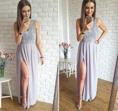 Długa suknia dla druhny